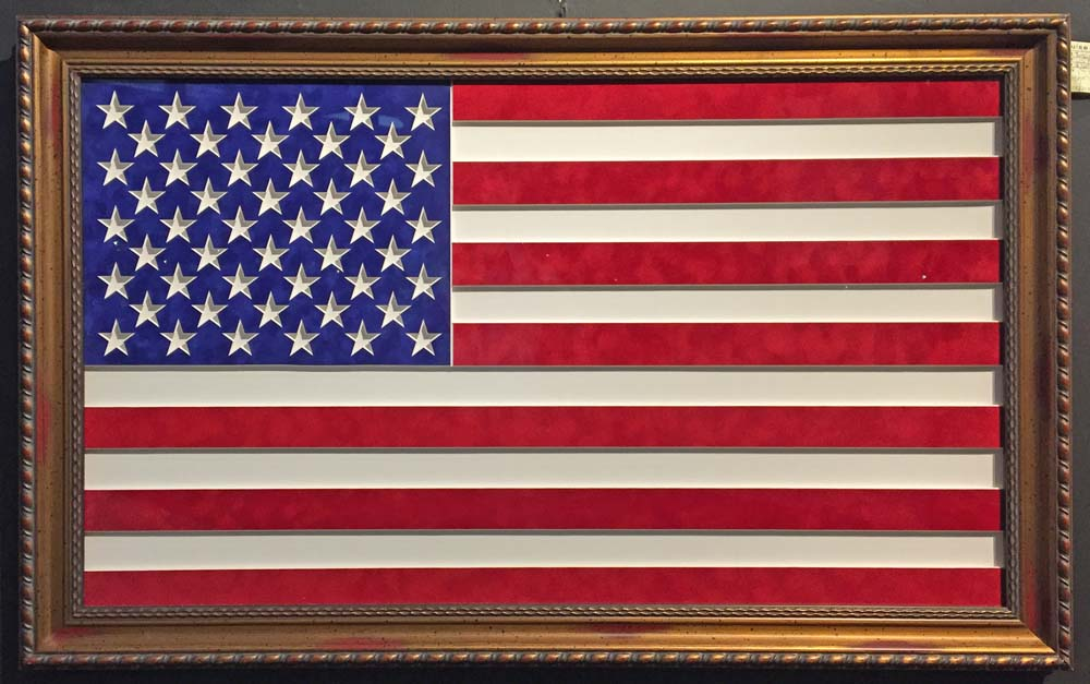 Custom Framed Flag