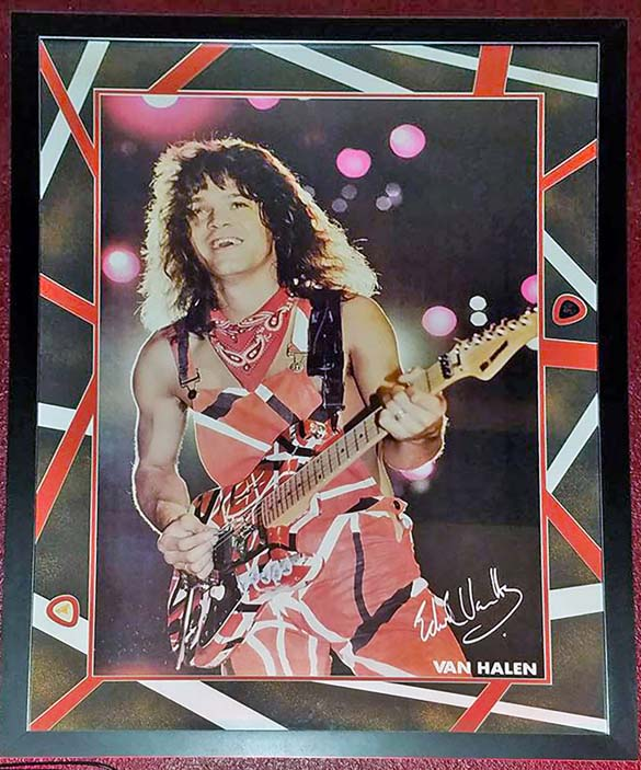 Eddie Van Halen Signed Print